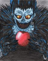 DN_-_ Ryuk and his Apple by AkatsukiFan505