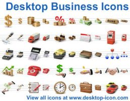 Desktop Business Icons by Ikonod