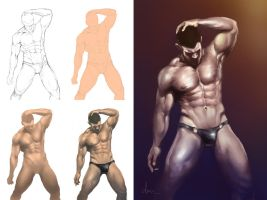 Sexy Underwear - My painting process by daimoc-art