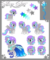 Silver Star Reference Sheet Commission by mikiXtheXgreat