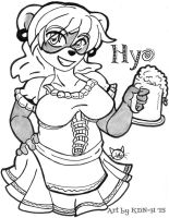 [Commission] Hyo the Barmaid by catcubus