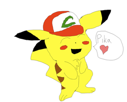 Pikachu Loves Ash's Hat by That-Wacky-Whovian
