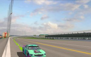 NASCARY - Lagoona out on the track at Daytona by Dorothy64116