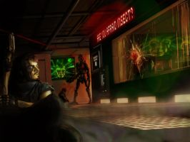System Shock: Hiding in the Shadows by JasonBurhans