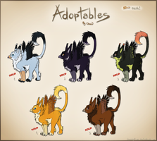 Adoptables - Cub Griffins 5x by chezzepticon