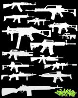 Firearms Photoshop Brushes by Viper818
