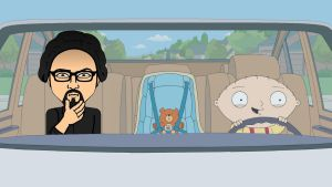 Stewie and Dylan car ride by rockstarsmith