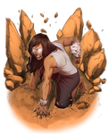 Commission - Korra by Afterlaughs