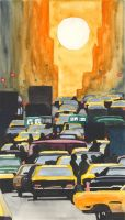 cabs in ny by pica-ae