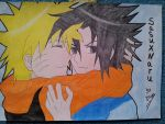 Sasuke and Naruto. Yaoi by JoJoAsakura