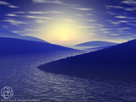 Blue River by Norski