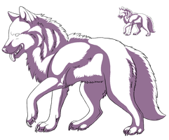 FREE wolf lineart (greyscaled) by camychan