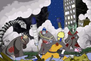 Naruto vs The Akatsuki by MrStevenTaylor