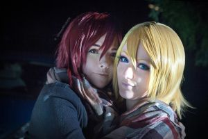 Vocaloid meets Free!|  Rin and Rin by CosplayREUNION