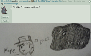 Ask The FNAF Crew! Question 60 by InvaderAllieNinja