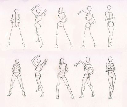 Sketches 28 - Woman standing practice by AzizlaSwiftwind