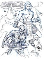 SPIDER-MAN and KAZAR by Wieringo