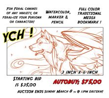 Canine bookmark Auction Over. by lady-cybercat