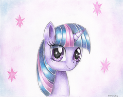 Twilight Sparkle portait by Evomanaphy