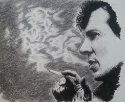 Sherlock - Smoking (version II) by Vanimelda4