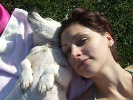Me And Taz Sunbathing by katmary