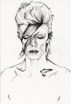 David Bowie by MissGeorgeSpiggott