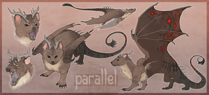 Parallel ref sheet by RedTallin
