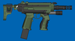 Blue Arms 'Busher' smg by andyshadow26