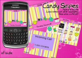 Candy Stripes Blackberry Theme by 0-Fluid-0