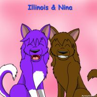 Illinois and Nina by Mytokyokitty