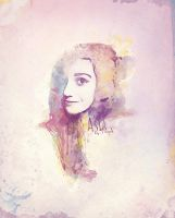 Watercolor portrait by djtrus