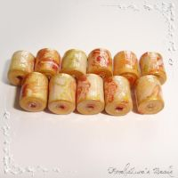 'Vintage Roses' paper beads by AmeliaLune