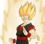 Commission - Torock-True Super Saiyan Form by LilRwar