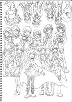 RWBY(uncoloured ver) by shade1995