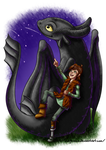 Fanart - Hiccup and Toothless by LadyRosse