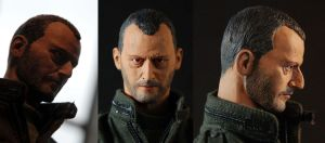 Jean Reno sculpt painted by cloud-filter