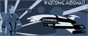 The new banner for my blog by Seblecaribou