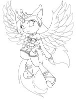 Ruffled Lace Lineart by goomzz