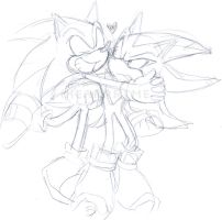Lovey-Dovey Sonic and Shadow by ihearrrtme