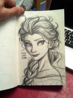 Queen Elsa by FireLordWael