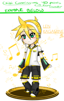 Chibi Commishs? - Len Kagamine by Dressagefreak