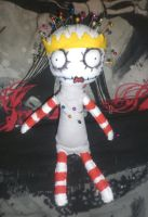 The pin cushion queen rag doll by Little-Horrorz