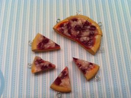 Pepperoni Pizza Charms 2 by KatGore