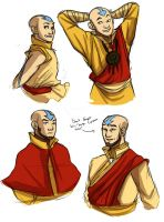 Aang Age Progression by Pugletz