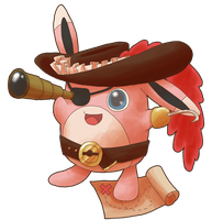 Wigglytuff Pirate by scilk