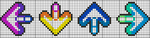 DDR Cross Stitch Pattern Multicolor by moonprincessluna