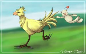 Chocobo Feedin' Time by madelief