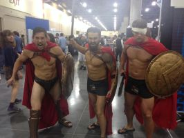 Phoenix Comicon 2014 Spartans! by Demon-Lord-Cosplay