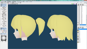 Modelling hair back tutorial video! by MMD-MCL