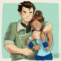 Bolin + Korra by rockinrobin